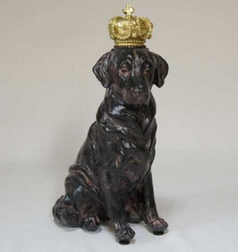 オブジェ クラウン dog ラブラドール 陶器 オーナメント 犬 成犬 DavidHome 44312DG