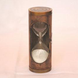 砂時計 おしゃれ 真鍮製 本革 アンティーク 3分間 タイマー レトロ 英国 インテリア雑貨 ヨーロピアン雑貨 オシャレ雑貨 おしゃれ雑貨 7382018