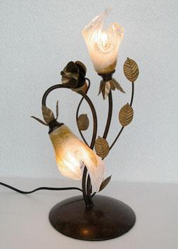 テーブルランプ おしゃれ 薔薇 バラ アイアン 2灯式