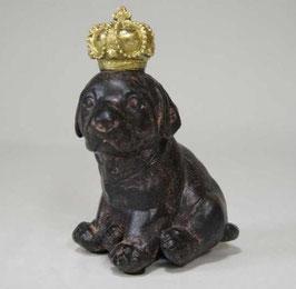 オブジェ クラウン dog ラブラドール 陶器 オーナメント 子犬 犬 子供 DavidHome 44311DG