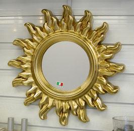 ウォールミラー おしゃれ 鏡 壁掛け ソレイユ 太陽 コロナ 王冠 アンティーク イタリア製 GOLD ベルトーチ BERTOZZI 808689