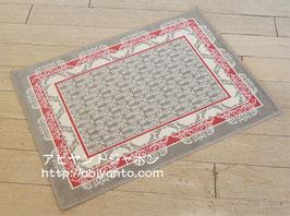 カーペット ラグ おしゃれ 洗える 長方形 綿 コットン フランス製 スタイルフランス 玄関マット 綿100% 50x70 cm TRINITY ROUGE