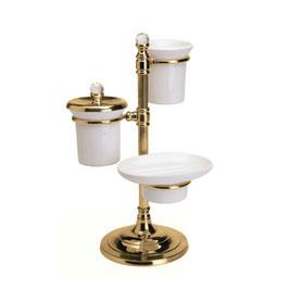 コスメツリー ソープデュッシュ イタリア製 おしゃれ 陶器 イタリアンクラシック 真鍮 ブラス製 かわいい サニタリー 洗面 インテリア雑貨 置物 スティラーズ STILARS 388311