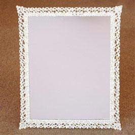 おしゃれ 壁掛け鏡 スタンドミラー スクエア 長方形 ウォールミラー キラキラ ラインストーン シルバー 822005