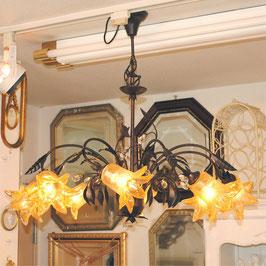 シャンデリア シャンデリアランプ 8灯 オシャレ おしゃれ アンティーク クラシック ガラスシェード 照明 照明器具 ランプ 725051