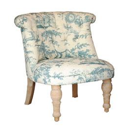 一人掛け ボヌールチェア 椅子 toile トワル チェア エンジェル ソファ ラムズゲイトチェア オシャレ クラシック シャビーシック ブルー 242009