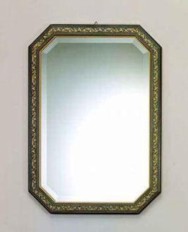 ウォールミラー おしゃれ 鏡 壁掛け 八角形 木製 青 ミラー OT アンティーク イタリア製 ベルトーチ BERTOZZI 808408