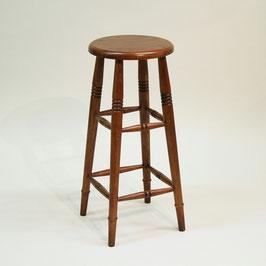 スツール ハイスツール 椅子 おしゃれ 花台 オーク材 無垢材 クラシック アンティーク調 285003