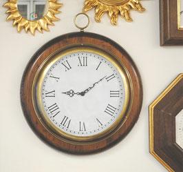 時計 オシャレ おしゃれ 壁掛け時計 古木 イタリア製 掛時計 真鍮 丸 ウォールクロック カパーニ CAPANNI 301233