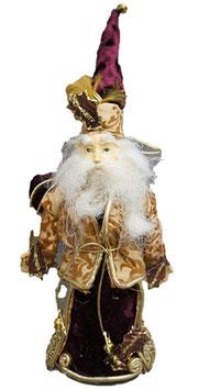 サンタクロース オーナメント ドイツ人形 ゴールド ゴージャス クリスマス オブジェ 35003SA