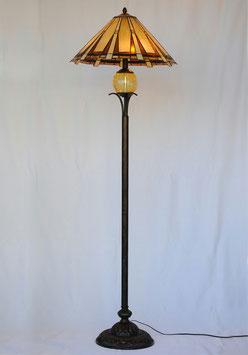 フロアランプ スキャンダル専門弁護士 3灯式 アイアン ティファニー ステンドグラス ステンドグラスシェード Floor Lamp 718006