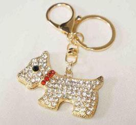 チャームホルダー キーホルダー バッグチャーム DOG ラインストーン 犬 48317KH