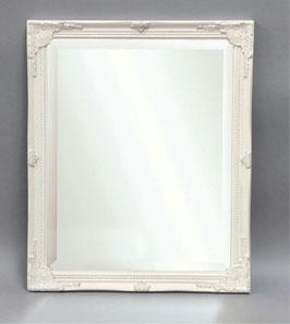壁掛け鏡 鏡 ウォールミラー ミラー おしゃれ レキュタングラー 長方形 面取鏡 白 ホワイト 820023 WH