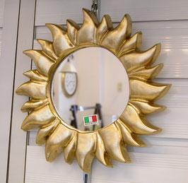 ウォールミラー おしゃれ 鏡 壁掛け ソレイユ 太陽 コロナ 王冠 アンティーク イタリア製 GOLD ベルトーチ BERTOZZI 808688