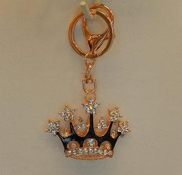 チャームホルダー キーホルダー クラウン 王冠 キラキラ ラインストーン ブラック 48310KH