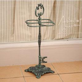 傘立て 鍵型 キー オシャレ グリーン 緑 アンブレラスタンド 鋳物鉄 鉄 鋳物 アイアン 7383004