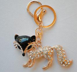 チャームホルダー かわいい キラキラ キツネ 狐 きつね フォックス fox キーホルダー バッグチャーム ラインストーン 48335KH
