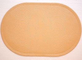 ランチョンマット 洗えるマット オシャレ カフェ マット プレースマット リッチ 風水 パイソン クロコ皮風 防水 ベージュ 3000PM-BE
