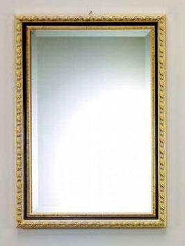 ウォールミラー おしゃれ 鏡 壁掛け 長方形 スクエア 木製 ミラー RT 金 黒 アンティーク イタリア製 ベルトッツィ BERTOZZI 808436