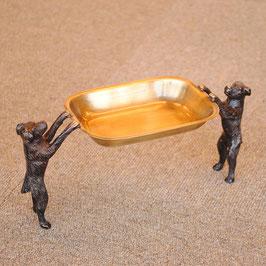 トレイ おしゃれ 真鍮製 プレート アンティーク ドッグ dog 犬 ソープディッシュ 雑貨 オブジェ インテリア雑貨 ヨーロピアン雑貨 オシャレ雑貨 おしゃれ雑貨 325006