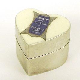 フランス 雑貨 化粧クリーム ハート アルミニウム 小物入れ ケース BOX ボックス ヴィクトリアン アンティーク アールデコ プチケース 347001