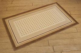 カーペット ラグ ドット おしゃれ 洗える 長方形 綿 コットン フランス製 スタイルフランス 66×107 cm 玄関マット 綿100% CARLOTTA BEIGE
