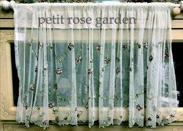 カフェカーテン レース生地 レースカフェカーテン レースカーテン 薔薇刺繍 45×150 プチローズガーデン QD0091U1