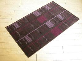 カーペット ラグ おしゃれ 洗える 長方形 綿 コットン フランス製 スタイルフランス 66×107 cm 玄関マット 綿100% Popoi violet figue