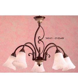 シャンデリア LEDシャンデリア LED照明 おしゃれ イタリア製 カパーニ 古木 アイアン ランプ 照明器具 5灯式 クラシック エレガント ゴージャス CAPANNI 701118