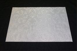 ランチョンマット 洗えるマット オシャレ カフェ マット プレースマット ダマスク柄 ダマスクローズ 長方形 ホワイト 白 24010PM