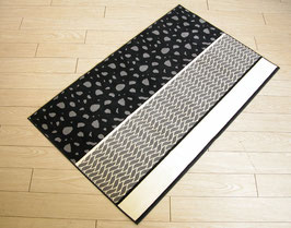 カーペット ラグ おしゃれ 洗える 長方形 綿 コットン フランス製 スタイルフランス 66×107 cm 玄関マット 綿100% Hounde black&white
