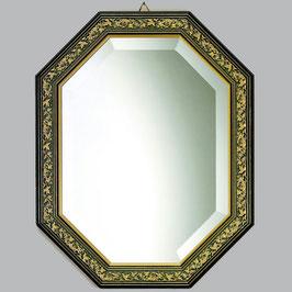 ウォールミラー おしゃれ 鏡 壁掛け 八角形 隅切り 木製 ミラー OT 青 アンティーク イタリア製 ベルトーチ BERTOZZI 808409
