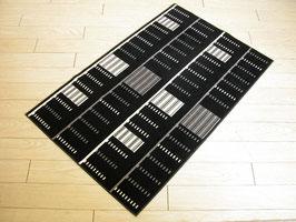 カーペット ラグ おしゃれ 洗える 長方形 綿 コットン フランス製 スタイルフランス 66×107 cm 玄関マット 綿100% Popoi black&white