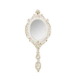 ハンドミラー 手鏡 オシャレ アンティーク クラシック フレンチ アンティーク ホワイト エレガント 姫家具 かわいい 1383207