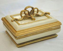BOX 宝箱 リボン取っ手BOX 小物入れ スモールボックス 雑貨 アクセサリーボックス アンティーク クラシック 収納箱 インテリア雑貨 1383128