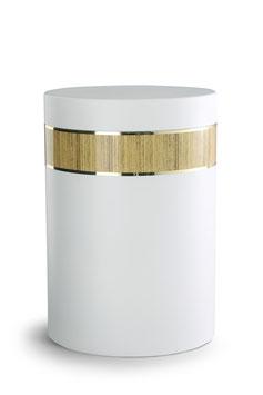 Urn Cylindrical wit gecoat