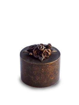 Mini-urn brons roos