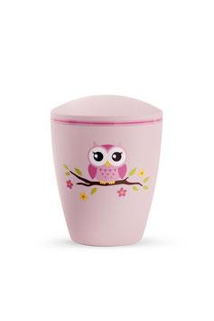 Kinderurn Uil roze