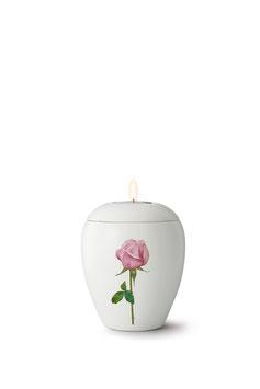 Gedenklicht Roos Serie Bianco