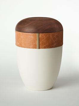 Hout Leder urn Creme