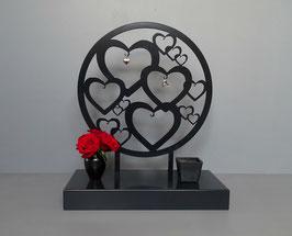 Urn staand model hartjes