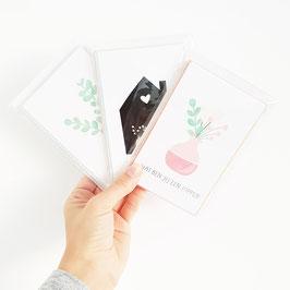 """Set kaarten""""BEAT CORONA"""" met enveloppe set 8 stuks"""