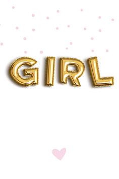 Label GIRL BALLON