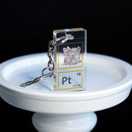 Platinum metal keychain