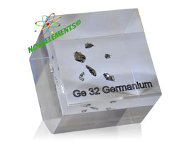 Germanium shiny crystals 99,999% in acrylic cube
