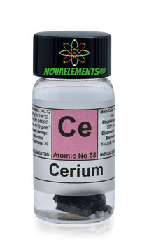 Cerium metal 1 gram 99.95% in vial