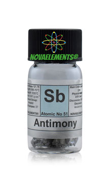 Antimony metal 5 grams 99.99% in vial