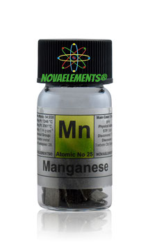 Manganese metal electrolytic flakes 99.95% 10 grams