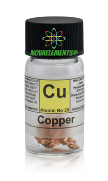 Copper metal shiny crystal 5 grams 99.99%