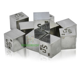 Tin metal density cube 99.99% polished surface